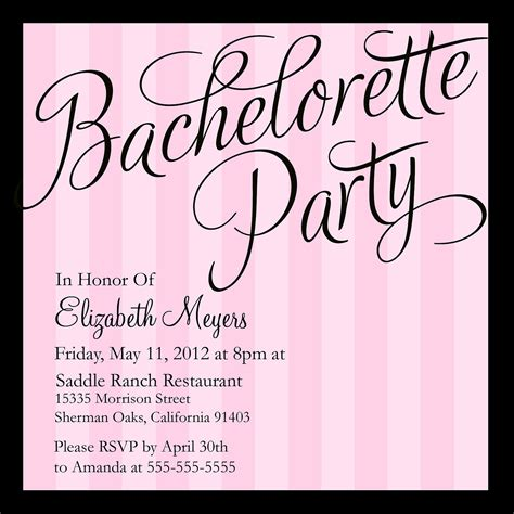 bachelor invitation cards templates tips for choosing bachelorette invitation wording