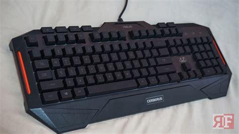 Keyboard Asus Cerberus asus cerberus gaming keyboard review