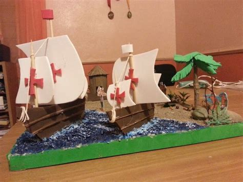 barcos de cristobal colon en foami maqueta carabelas de colon hist 242 ria pinterest