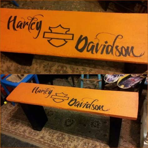 harley davidson bench finished this custom ordered barnwood bench harley