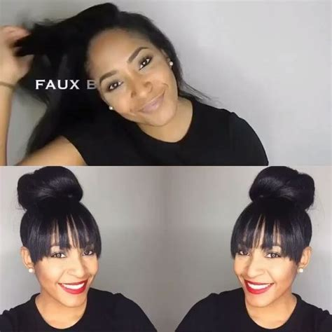 bang faux hair styles 1000 ideas about faux bangs on pinterest hairstyles for