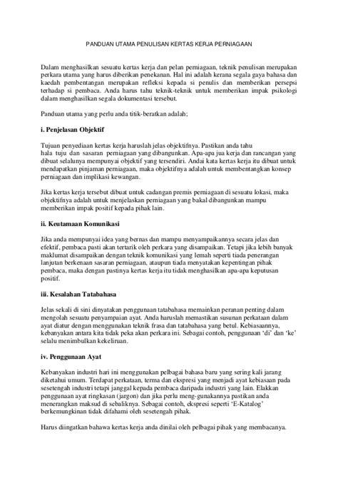 format menulis proposal panduan utama penulisan kertas kerja perniagaan