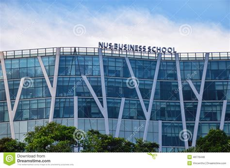 National Of Singapore Business School Mba Fees by Singapore Nus Business School Editorial Stock