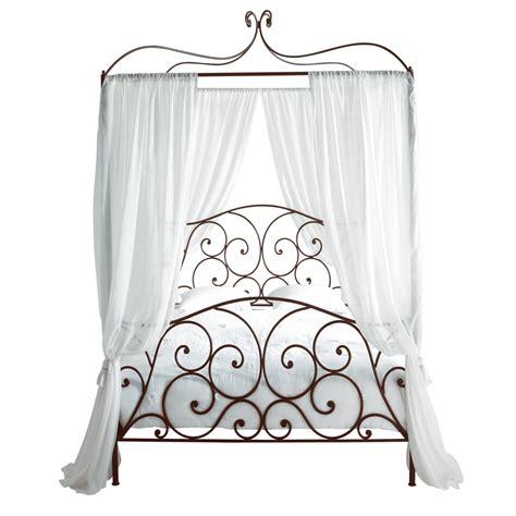 letto baldacchino maison du monde letto marrone a baldacchino 140 x 190 cm in metallo