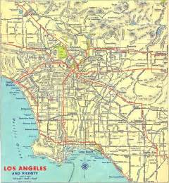 1939 map of los angeles los angeles california