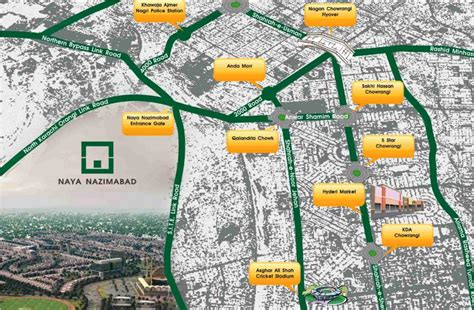 Land Plots For Sale by Naya Nazimabad City Housing Scheme Location Map Or Plan
