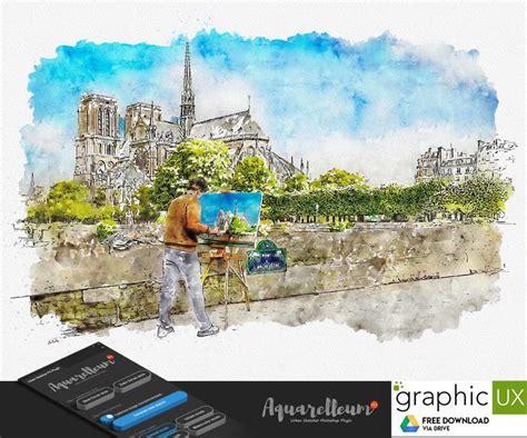 aquarelleum urban sketcher photoshop plugin