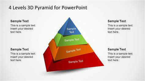 4 Levels 3d Pyramid Template For Powerpoint Slidemodel Powerpoint Pyramid