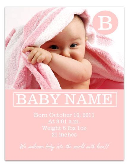Free Birth Announcement Template by Worddraw Free Baby Announcement Template For