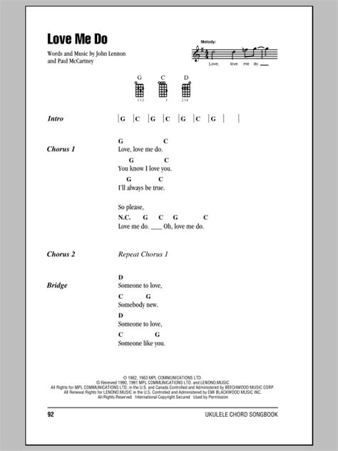 strumming pattern hear you me tablature guitare love me do de the beatles ukulele