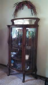 Antique Curved Glass Curio Cabinet For Sale Antique Unique Curio Cabinet For Sale Nex Tech Classifieds