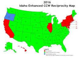 ccw reciprocity map idaho enhanced concealed carry reciprocity map
