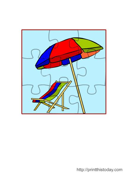 printable jigsaw puzzle for preschoolers free printable summer games puzzles and activities