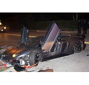 Chris Brown's Lamborghini Aventador Crashed And Abandoned In Beverly
