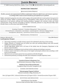 Respiratory Resume by Respiratory Therapist Resume Sle Resume Sles My Resume Career And