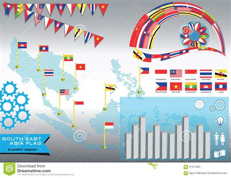 Indonesia Unite Graphic 7 Tshirtkaosraglananak Oceanseven aec or asean or info graphic stock illustration image
