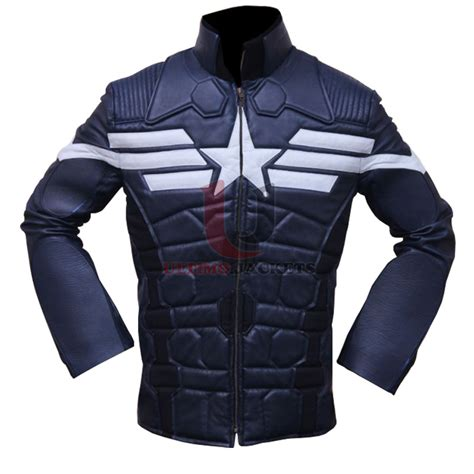 Jacket Captain America captain america the winter soldier slim fit leather jacket