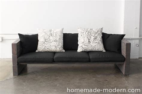 comfy diy sofa couch plans crafts diy