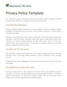 free privacy policy templates privacy policy template