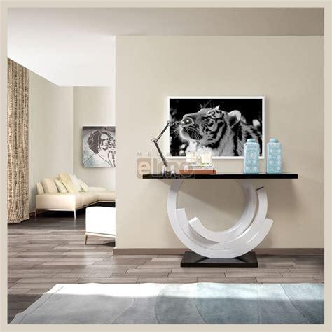 Console de salon design moderne laque bicolore