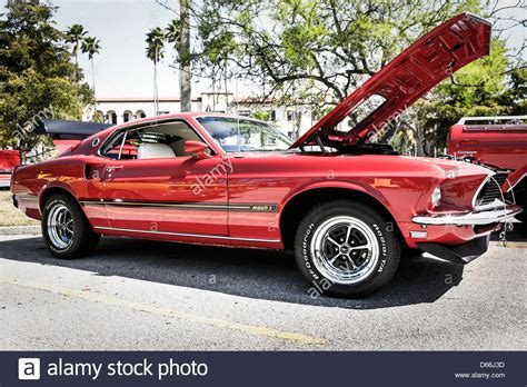 mustang cobra jet engine 1969 ford mustang mach 1 with a cobra jet engine stock