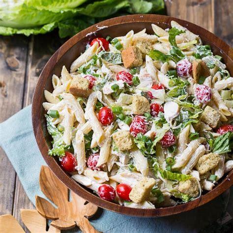 pasta salad recipie chicken caesar pasta salad spicy southern kitchen
