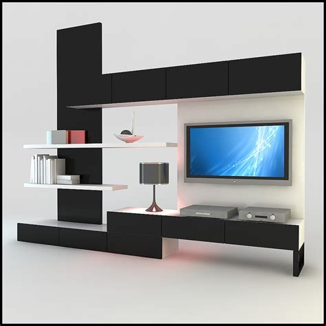 tv wall unit modern design x 15 3d models cgtrader com tv wall unit modern design x 20