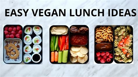 Simple Lunch Box easy vegan lunch ideas bento box