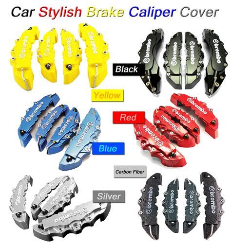 Brake Caliper Cover Rem Brembo Carbon Blue 4 Pot Medium 2017 six styles racing brembo look car styling brake