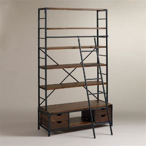 metal bookcase and ladder world market