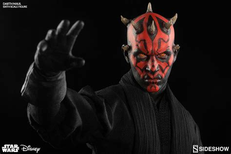 Starwars Darth Maul Sideshow S 1 6th Scale Darth Maul Duel On Naboo Plastic