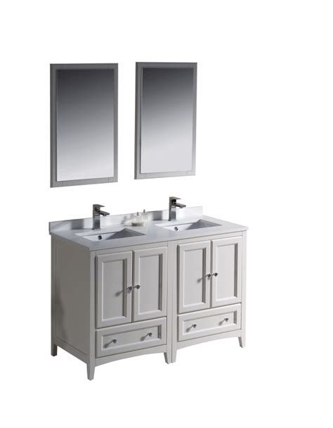 48 Inch Bathroom Vanity White 48 Inch Sink Bathroom Vanity In Antique White Uvfvn202424aw48
