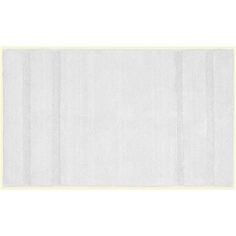 30 X 50 Kitchen Rugs Garland Rug Majesty Cotton White 30 In X 50 In Washable Bathroom Accent Rug Pri 3050 01 The