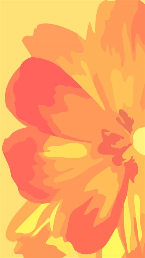 yellow wallpaper iphone hd 6477 wallpaper walldiskpaper orange and yellow flower iphone 5 wallpaper 640x1136