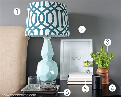 how to decorate a how to decorate his nightstand teal and lime by jackie