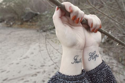 hope and faith tattoos on wrist beautiful and faith tattoos on wrists
