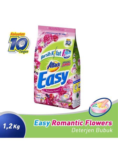 kao attack detergent powder easy flower bag 1 2