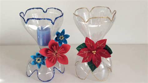 candelabros hechos con material reciclable manualidades con botellas de coca cola best 20