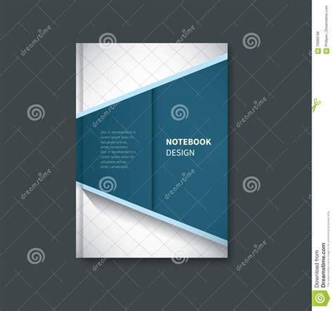 notebook cover design vector free download notebook first page cover design stock vector image