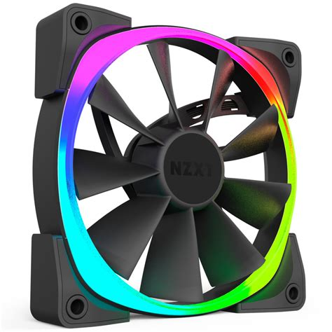 green led computer fan nzxt s aer rgb fans adds colors to your pc s casing