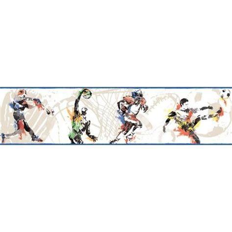 sports wallpaper border football, basketball, baseball