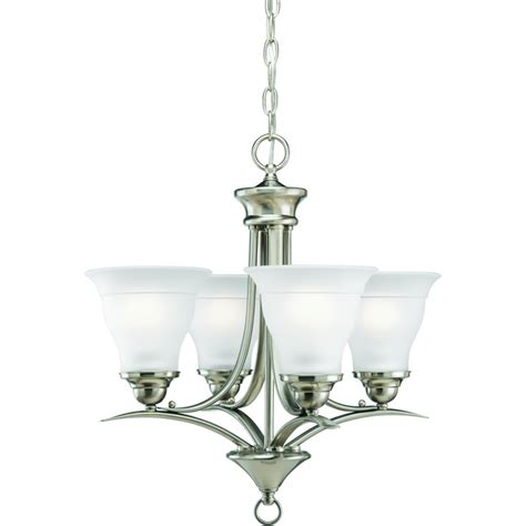 picture lighting home depot progress lighting collection brushed nickel 4 light chandelier the home depot canada