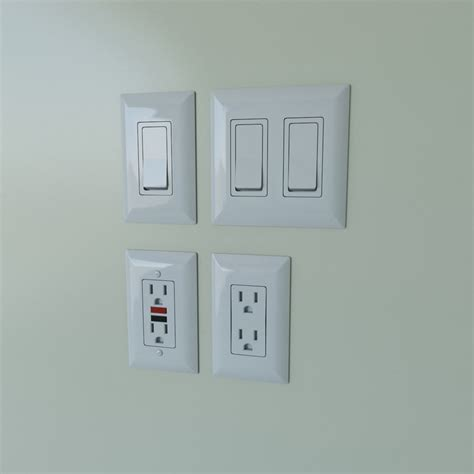 3d light switches power outlets