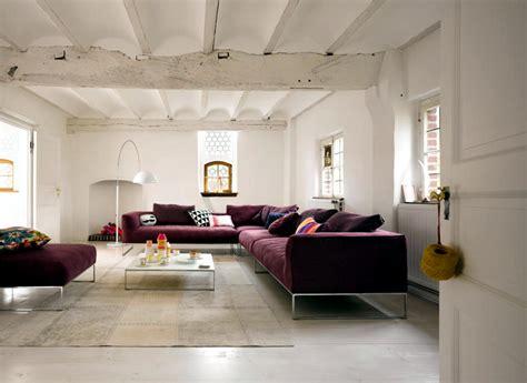 wine and couch wine red sofa in a white room interior design ideas