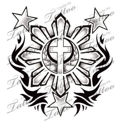 starsandsun filipino flag  stars  sun    tribal   tattoo