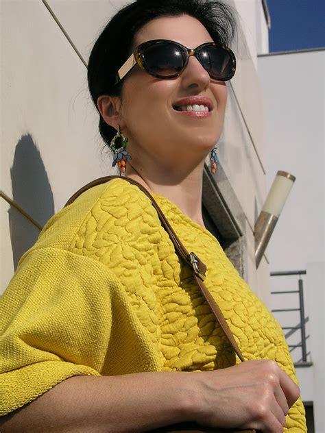 Priscillia Tunic Teksture teresa leite h m yellow textured sweater zara white and