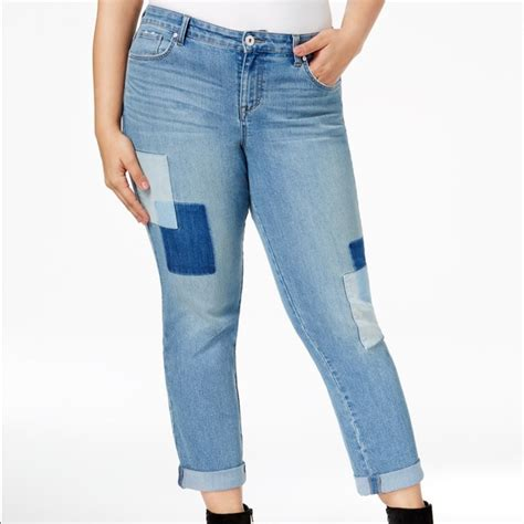 Patchwork Boyfriend - 43 style co denim plus size style co patchwork