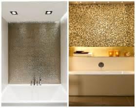 Metallic Mosaic Bathroom Tiles Materialist 5 Ways To Bring The Metallic Trend Into Your