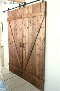 How To Make Sliding Barn Doors Diy Barn Doors Nest Of Bliss