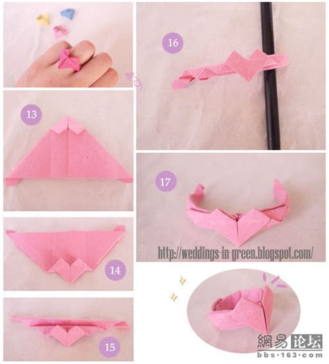 origami butterfly ring step by step comot